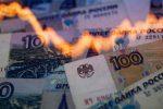 рубли и светящийся график