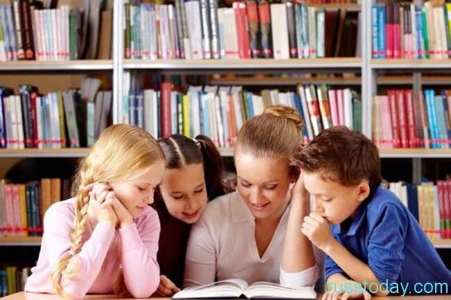 библиотекарь и дети