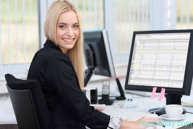 девушка-бухгалтер