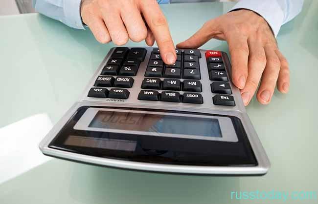 калькулятор и руки