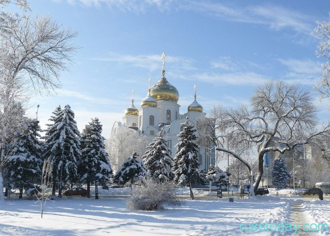 Зима в южном Краснодаре