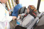 пенсионерка в автобусе