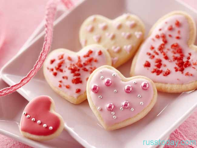 розовые сердечки