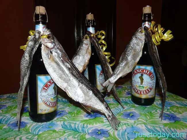 рыбка с пивом в подарок