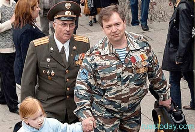 ветеран с ребенком