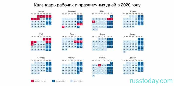 календарь 2020 года