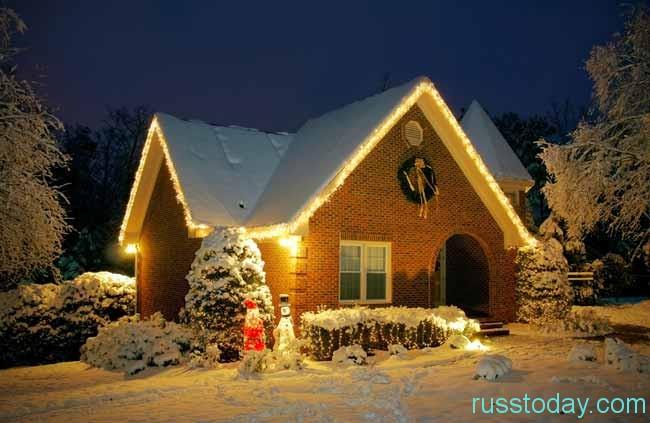 Как снять домик на Новый год