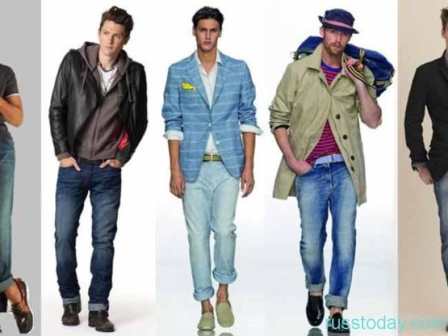 Модные тенденции мужских джинсов