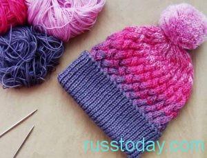 шапки, связанные из ниток