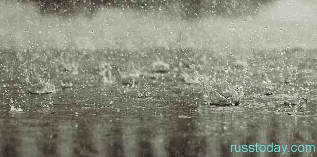 летний  холодный дождь