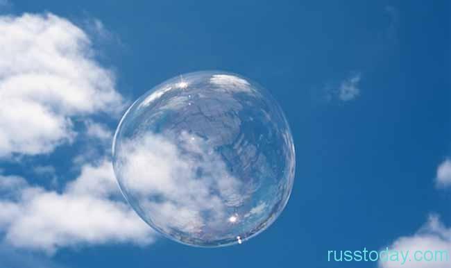 Мыльный пузырь скоро лопнет
