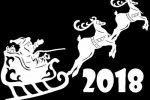 Шаблоны вытынанки олени к Новому 2018 году
