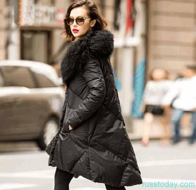 женские зимние пуховые пальто 2018–2019 с фото