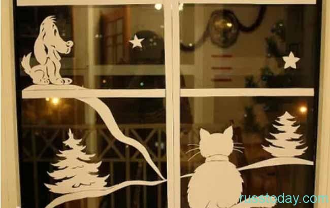 Вырезалки животных на окно на Новый год 2019