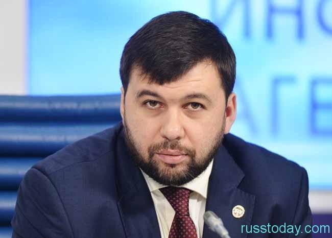 Политик Денис Пушилин, работающий в ДНР
