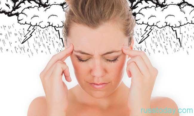 При активном проявлении симптомов метеозависимости...