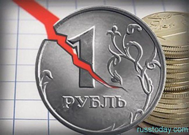 Вероятность обесценивания рубля в новом году