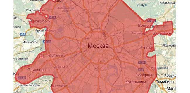 Карта новых границ расширения Москвы на 2019 год
