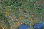 Карта Украины спутниковая