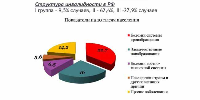 Структура инвалидности в РФ.