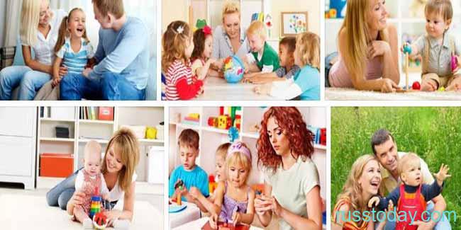 Коллаж родители с детками