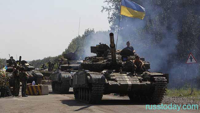 Танки с флагом Украины