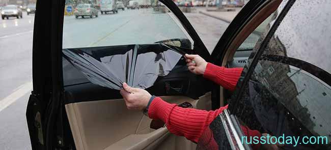 Тонировка на стекле машины