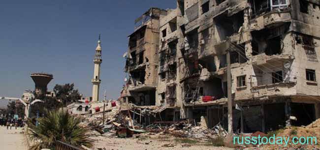 Разрушенный дом в Сирии