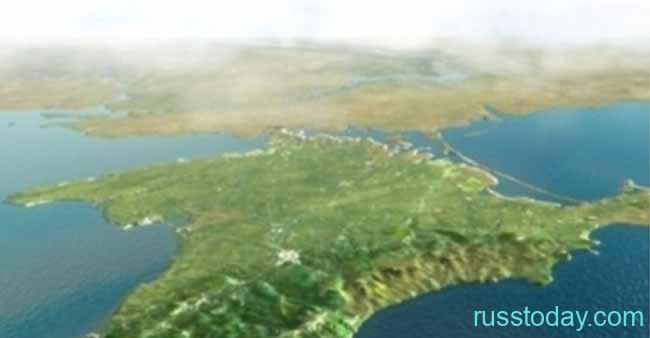 Полуостров Крым на карте