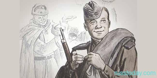 Зарисовка карандашом Василий Теркин