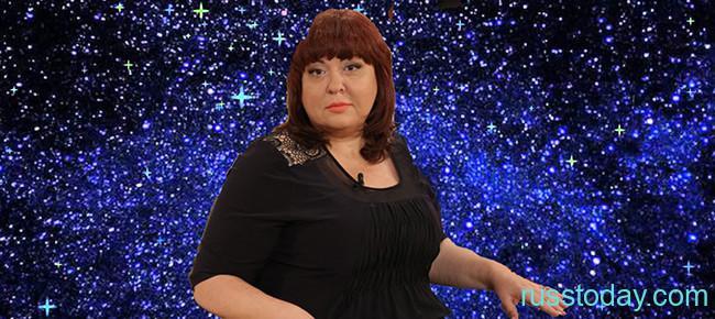 Алена Курилова на фоне звезд