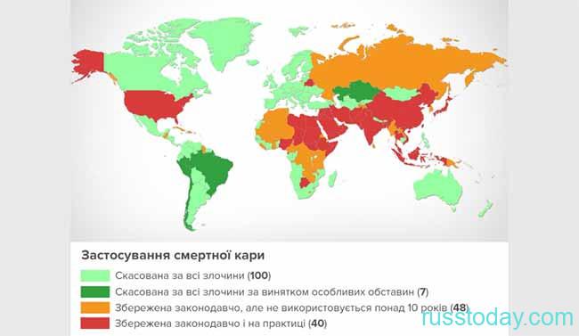Статистика смертной казни в мире