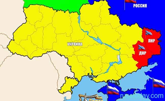 Новая карта Украины и России
