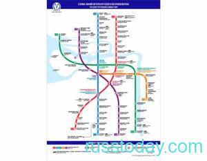 Схема метро Санкт Петербурга в 2021 году