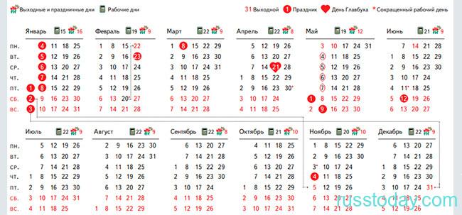 Календарь в ноябре 2021 года в Беларуси